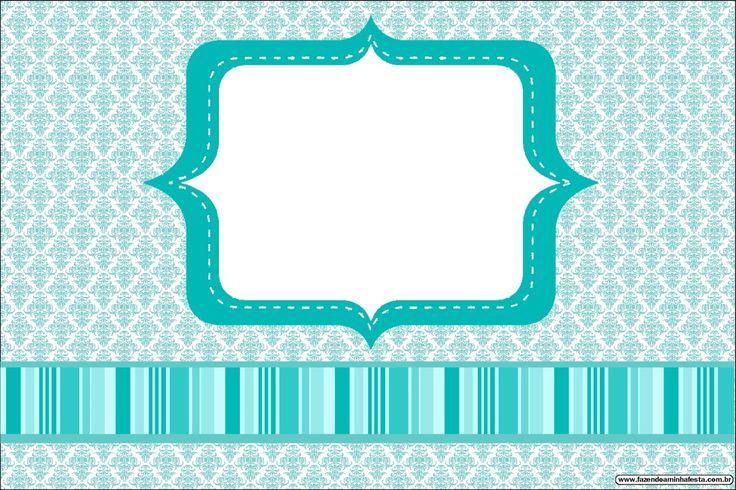 Azul Tiffany - Kit Completo com molduras para convites, rótulos para guloseimas, lembrancinhas e imagens!