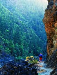 The Rogue River National Recreation Trail from Grave Creek to Foster Bar is in the heart of the National Wild and Scenic Rogue River Canyon.