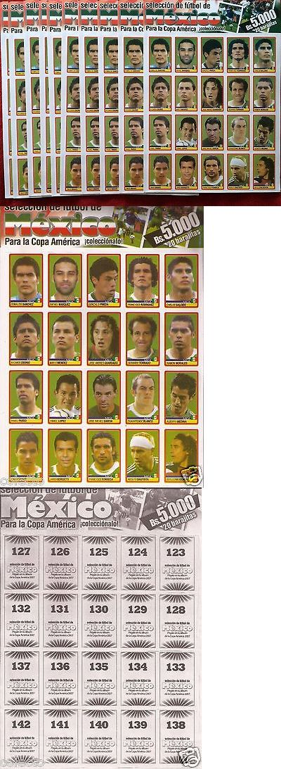 Sports Stickers Sets and Albums 141755: 10X Copa America Venezuela 2007 Sticker 123 To 142 Mexico Team For Panini Album -> BUY IT NOW ONLY: $50 on eBay!