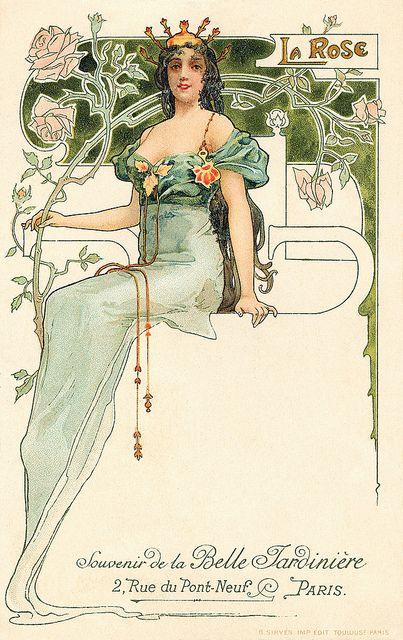 Art nouveau postcard | Flickr - Photo Sharing!