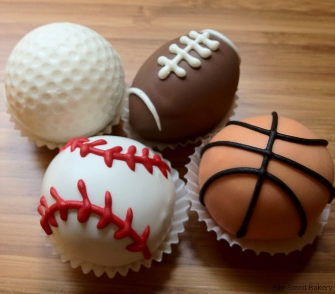 sports cake balls