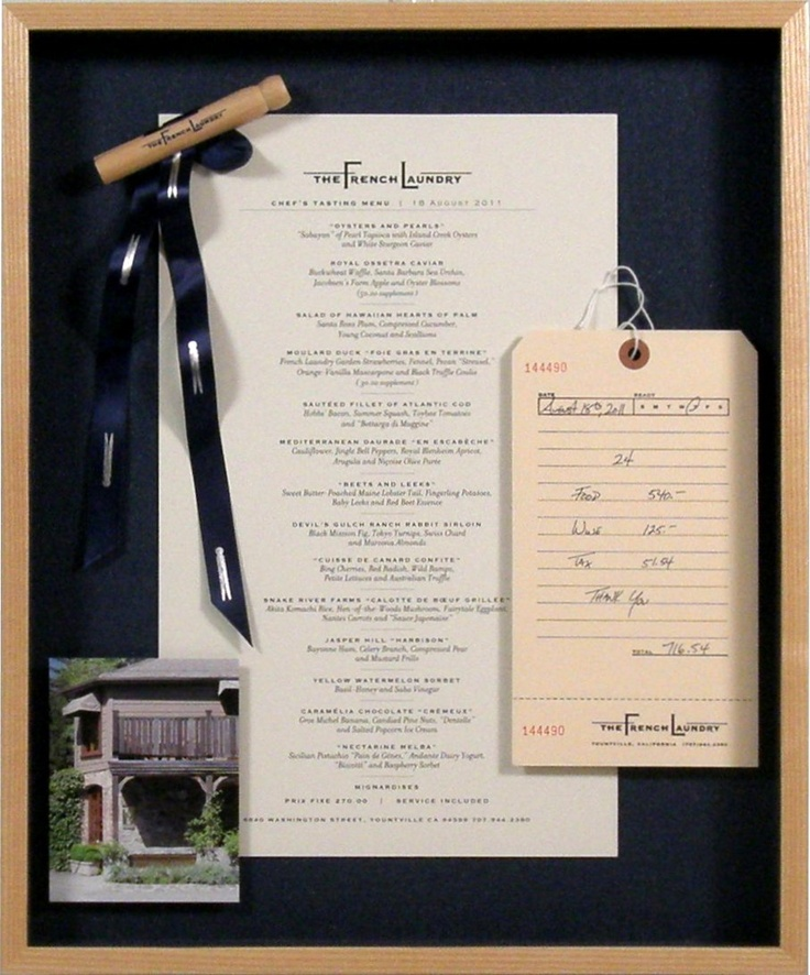 French Laundry New Kitchen: The French Laundry Restaurant Menu With Details In A