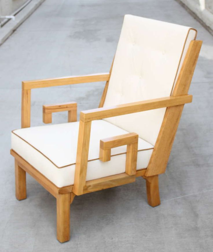 French Greek Key Lounge Chair | From a unique collection of antique and modern armchairs at https://www.1stdibs.com/furniture/seating/armchairs/