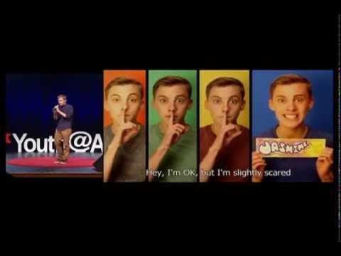 """Jon Cozart at TEDxYouth@Austin    Moral of the Story : -  Jon do a problem solving..., which is lead him to Jon Cozart today..  - """" Everybody has a camera , everybody has a computer , everybody has a PERSONALITY.. """"  - JR"""