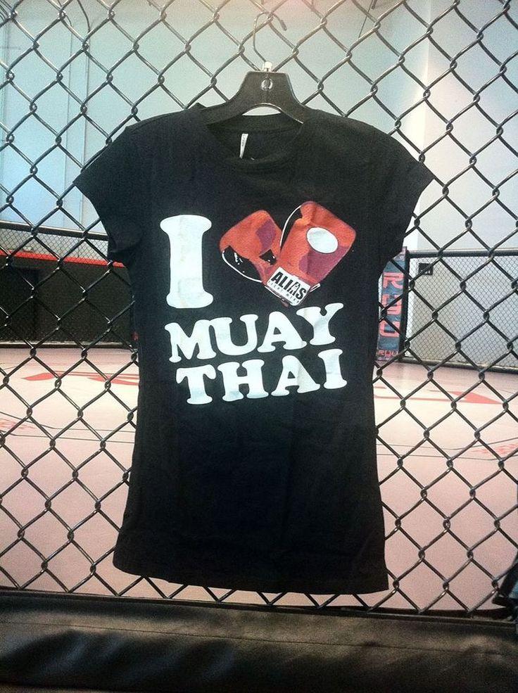 Alias Fight Wear I Love Muay Thai Women's Tee #ALIASFightWear #ShirtsTops