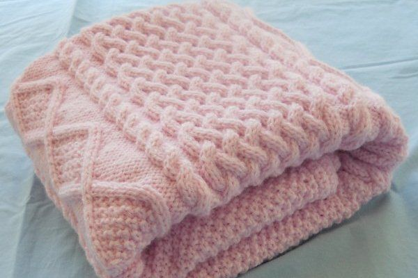 Chunky Knit Baby Blanket Creative stuff Pinterest