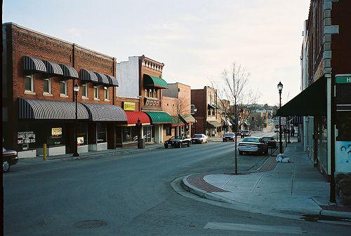 Beautiful Downtown Warrensburg, Missouri. by midmophil, via Flickr-- Pine Street
