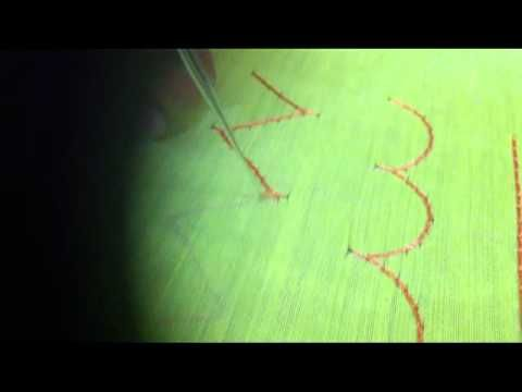How to Put Knot at the end - Aari work or maggam work tutorial - YouTube