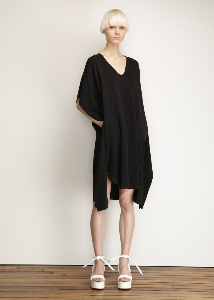 Zero + Maria Cornejo Sil Dress (Black)