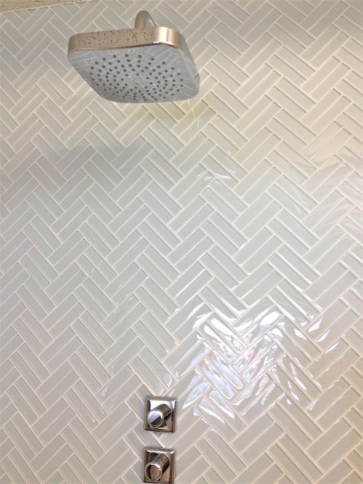 love this! // Soft White Glass Subway Tile in Cloud Weave | Modwalls Lush 1x4 Tile