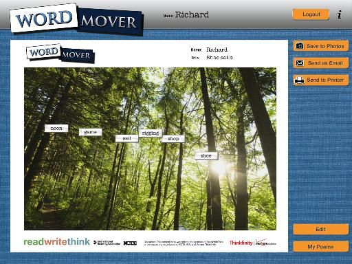 Free Technology for Teachers: Word Mover Helps Students Start Poems