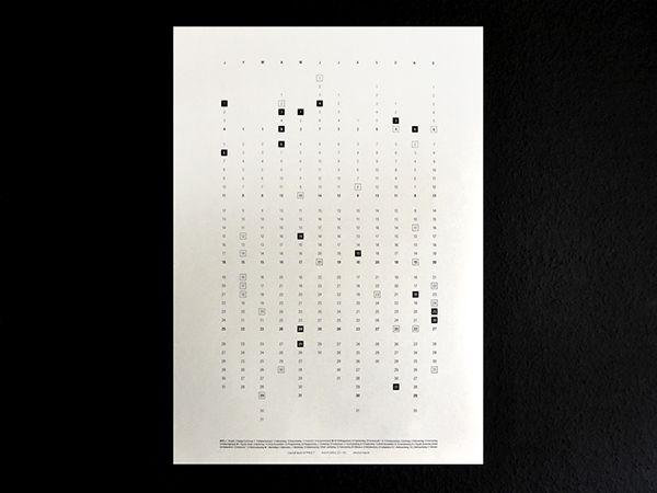 Calender 2015 – screen print on Behance