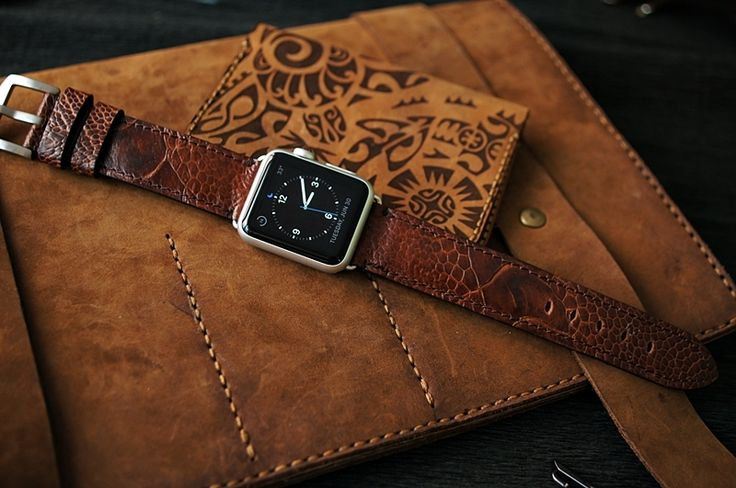 Ostrich Leg Leather Watch Strap for Big Watch or Apple Watch 1 and 2  #applewatchedition #iphone #iphoneonly #iphone6plus #iphonedaily #iphoneology #instatime #instawatches #dailywatch #iphoneography #womw #watches #wornandwound