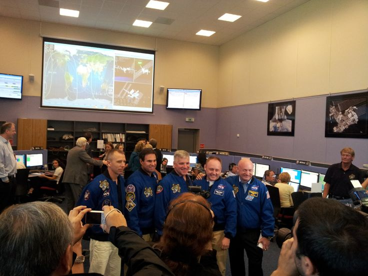 Group picture of the STS-134 crew for the 1 year in space anniversary of AMS-02 #CERNTweetup  (credit: HAP / A.Chantelauze)