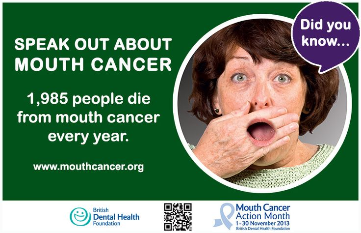 LIKE and SHARE: November is Mouth Cancer Action Month - 1,985 people die from mouth cancer every year. Please help us raise awareness of mouth cancer by getting involved: http://www.mouthcancer.org/page/how-to-get-involved #MCAM #MouthCancer