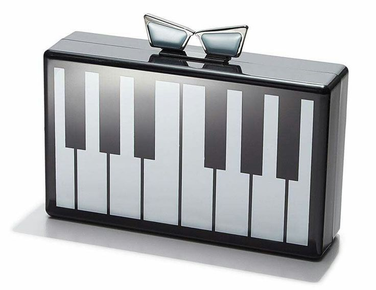 """NEW Love Bravery Piano Clutch Created by Lady GaGa and Elton John Benefiting the fight against Prejudice and Hate. Materials: Acrylic Magnetic Closure Size: 7""""x4""""x2"""" SMOKE FREE   eBay!"""