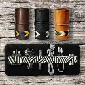 Leather All In One Tech Roll Mobile Phone Kit - top gift picks