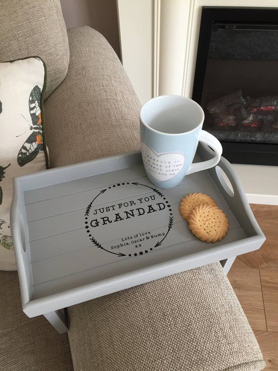 Personalised Sofa Arm Rest Tray Couch Tray Father S Day Gift Also Available In Grey Other Titles Available Couch Tray Personalised Gifts Handmade Vinyl Personalized
