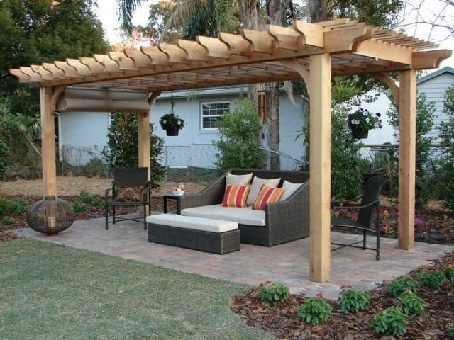 Create More Shade On Your Patio With A Retractable Canopy Add A Canopy To Any Full Size Pergola Kit On Our Outdoor Pergola Building A Pergola Backyard Pergola