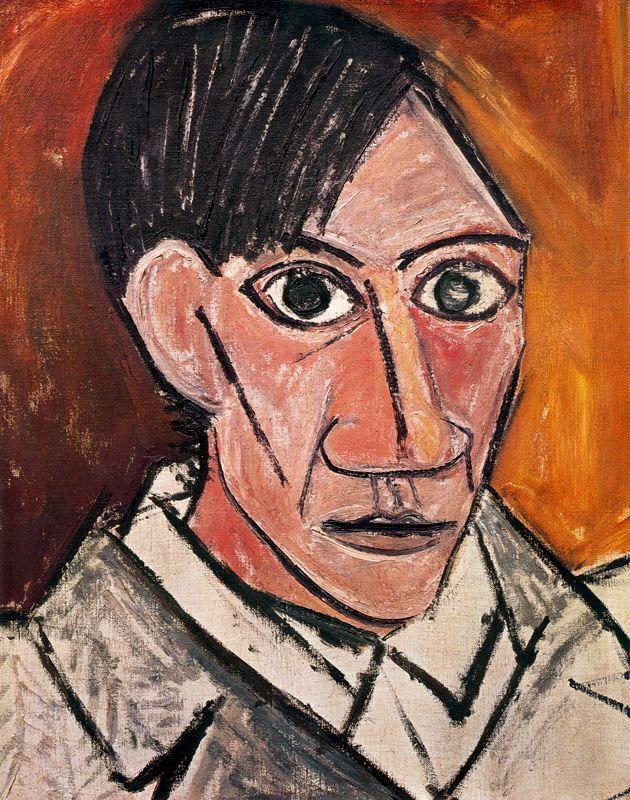 Auto-retrato 1907 Picasso terminó esto durante el trabajo de Les Demoiselles d'Avignon.  Este retrato, el retrato más tarde, comienza el colapso de forma reconocida como parte de la construcción hasta el cubismo