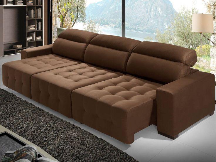sof retr til e reclin vel chaise 3 lugares harmony com. Black Bedroom Furniture Sets. Home Design Ideas
