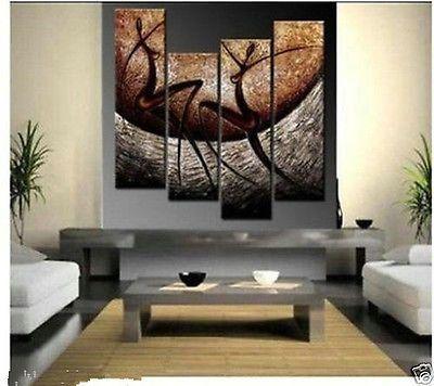 Moderno ABSTRACTO ENORME Pared pintura al óleo lienzo ornamentos (sin Enmarcado