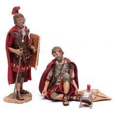 Soldados romanos jugando a los dados 18 cm belén Angela Tripi