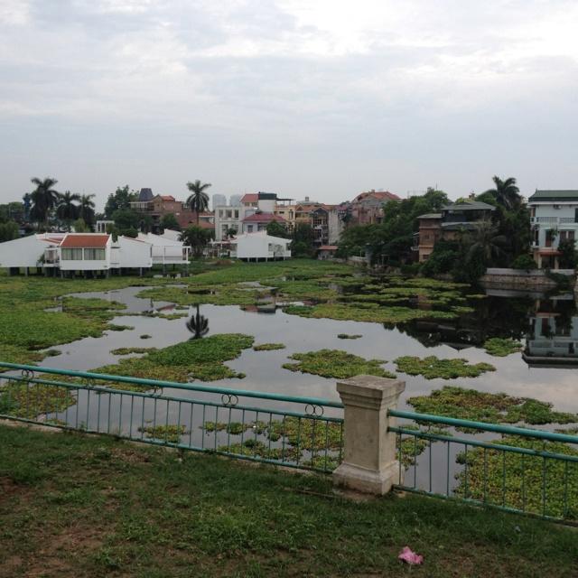 The backyard of Intercontinental Hanoi