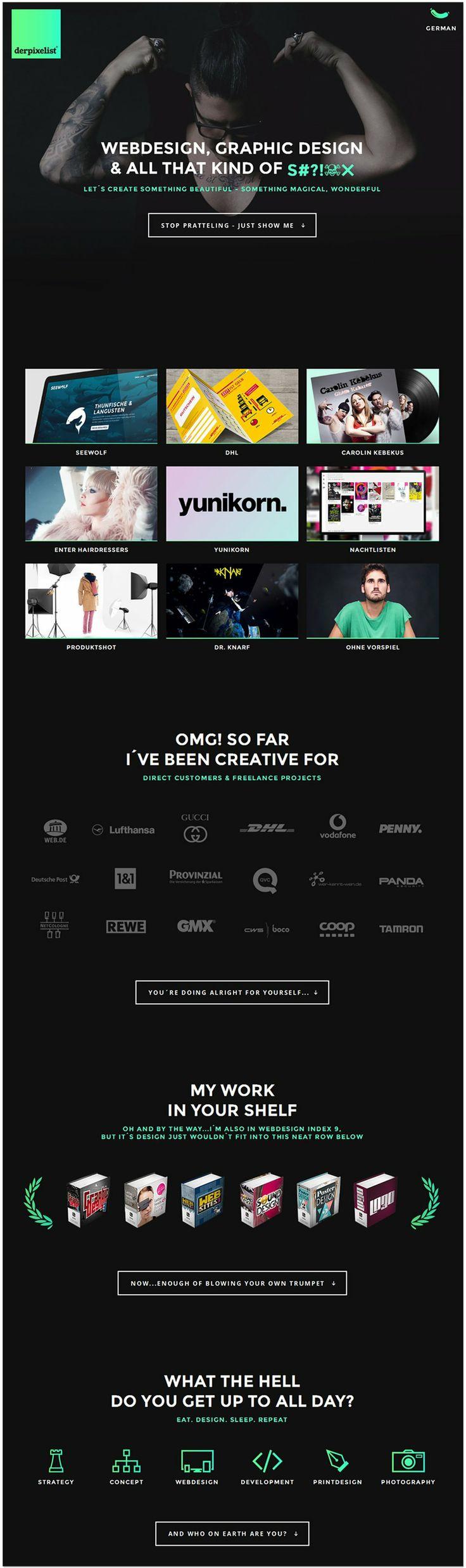 Cool Web Design, Derpixelist. #webdesign #webdevelopment [http://www.pinterest.com/alfredchong/]