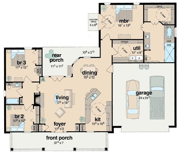 plan 8423jh  handicapped accessible