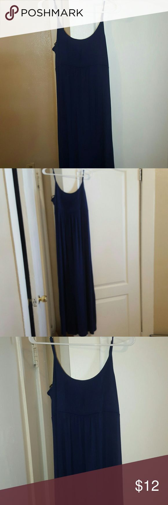 Calvin klein summer long blue dress Size 12, blue calvin klein. Vguc!! Only used twice. You are able to adjust the straps on the dress. Calvin Klein Dresses Maxi
