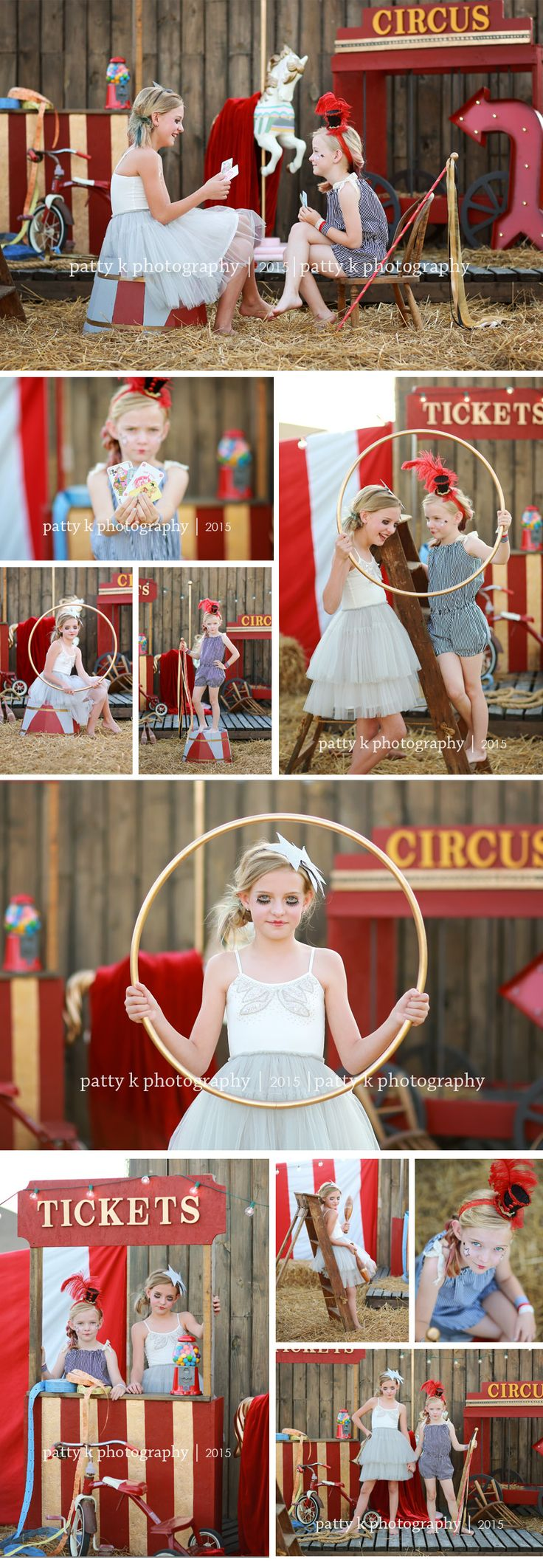 Circus Minis | Imagination Session | Mylie & Delaney | Raeford, NC Child Photographer | Patty K Photography