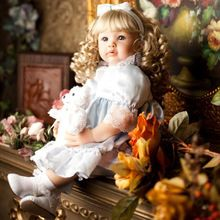 US $128.56 60cm Silicone Reborn Babies Princess Dolls Toddler Vinyl Simulated Doll Reborn Christmas Gifts Cotton Body Baby Alive Brinquedos. Aliexpress product