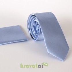 Açık Mavi Saten Kravat (Slim) http://kravatal.com