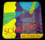 Mint condition, still in the original packaging, vintage Scorsby Scotch cork coasters. Great addition to your home bar. These coasters are circa 1999. There are four coasters per pack.