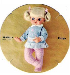 PAR AMOUR DES POUPEES :: ARABELLA, 45CM, 1966, FURGA seconda versione bionda