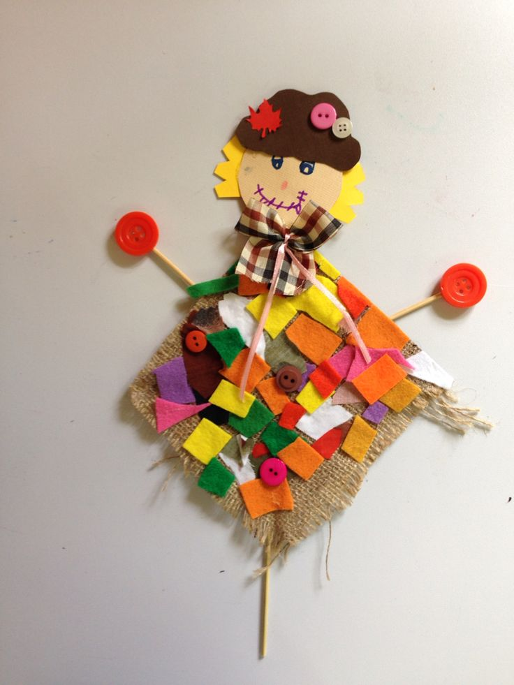 Scarecrow by kids.