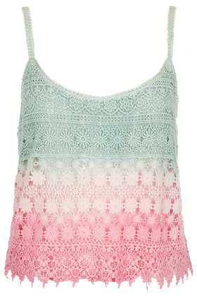 Topshop, Dip Dye Crochet Cami, £32
