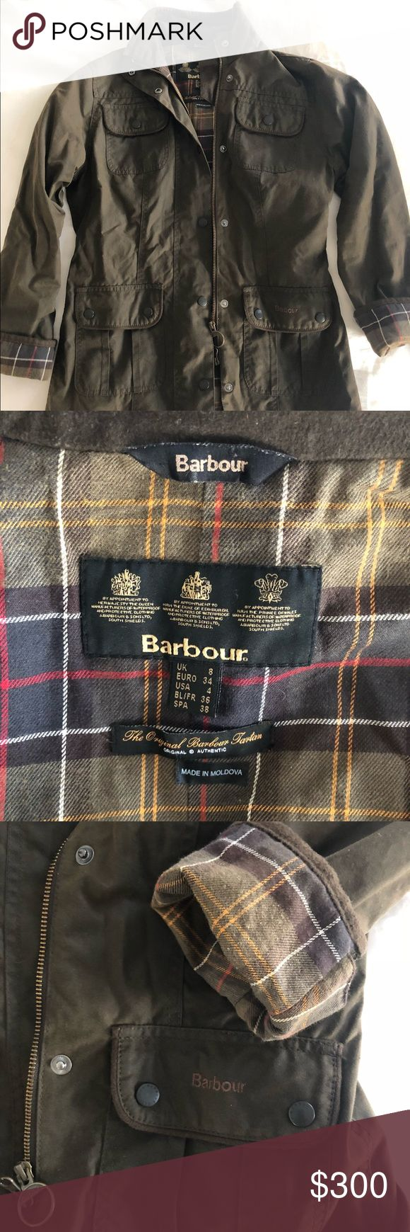 Spotted while shopping on Poshmark: Women's Barbour Wax Jacket - Olive/Brown! #poshmark #fashion #shopping #style #Barbour #Jackets & Blazers