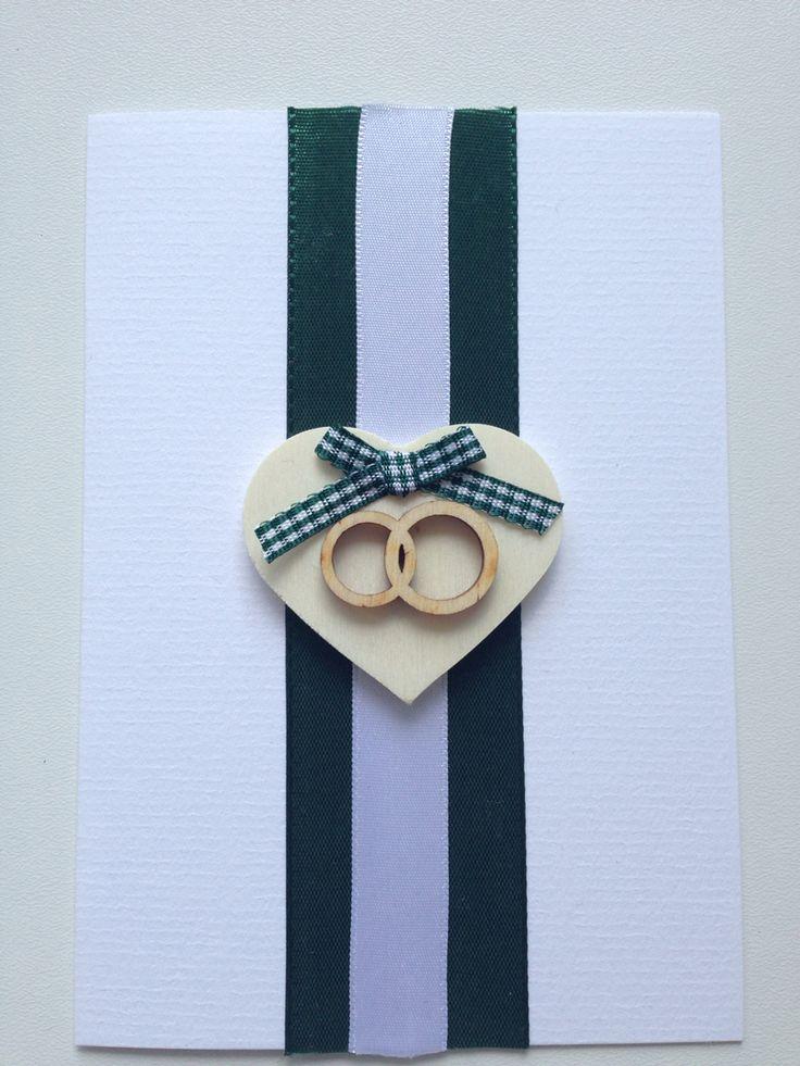 "Wedding greeting card ""wooden rings"""