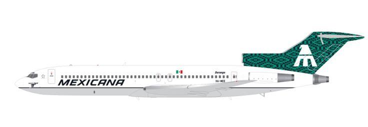1/200 GeminiJets Mexicana Boeing 727-200 Diecast Model