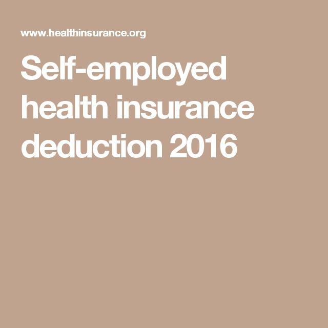Self-employed health insurance deduction 2016