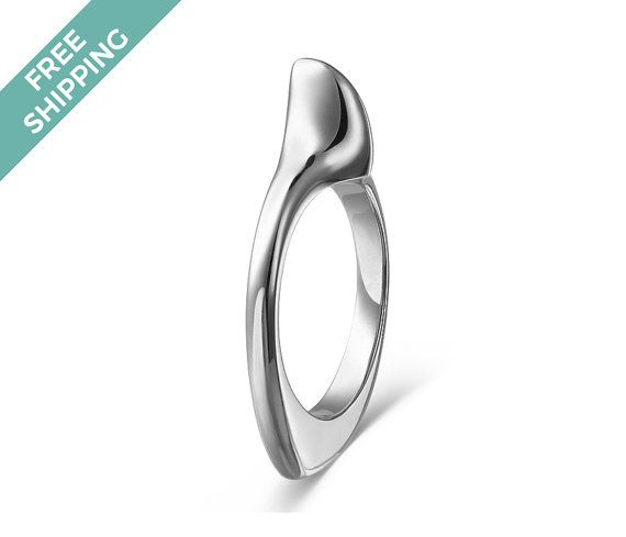 FREE Shipping Worldwide - get it delivered on us - kiz&Co. Get it now, all items are in stock and ready to ship within 1 business day. This 925 Sterling Silver Shark Fin Ring was created from a hand crafted wax mould, making this piece truly unique. There is a small weight on the underside