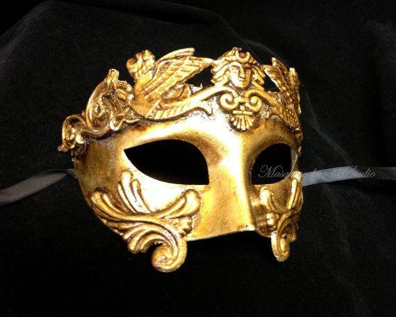 Mens Masquerade Mask for Men Roman Gladiator Thor - Masquerade Ball Mask for Man