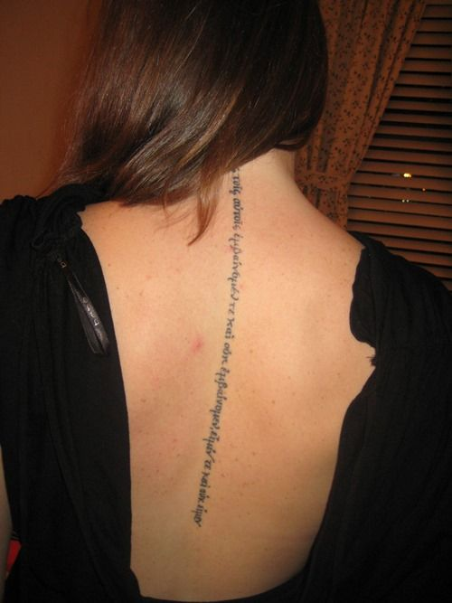 Spine Quotes Tattoo for Girls