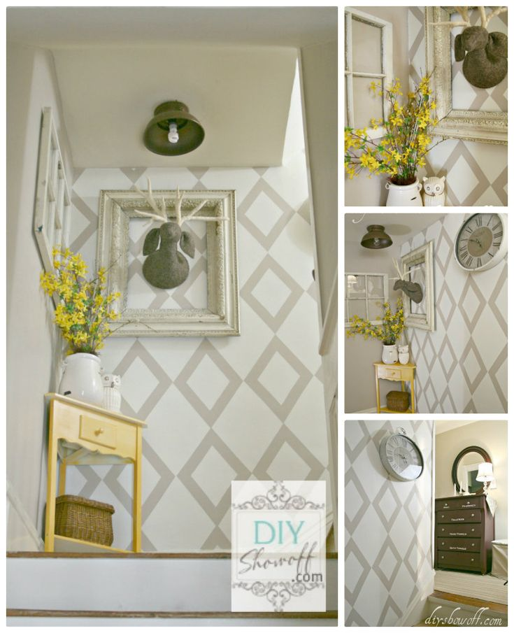 DIY Show Off stairwell/landing makeover - featured in Cottages & Bungalows Magazine