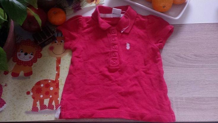Papagino poloshirt  Pink weiß neu 74