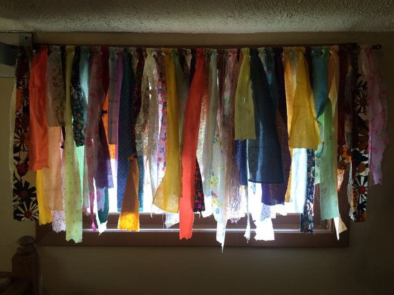 BOHO Gypsy Rag Curtains Window Treatment Cottage by FindingShe