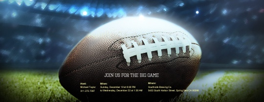 Get your gang ready for kickoff with this sporty invite from evite.com