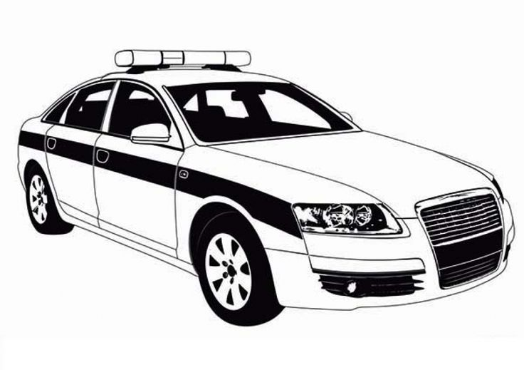 Police Car Patrol Picture To Color For Kids | Cars ...